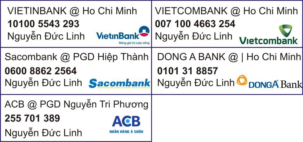 Phương Thức Thanh Toán qua ngân hàng