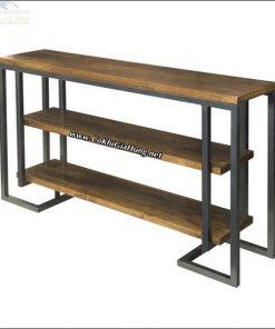Xưởng cơ khí Gia Hưng chuyên sản xuất các loại kệ gỗ khung sắt mặt gỗ giá rẻ nhất