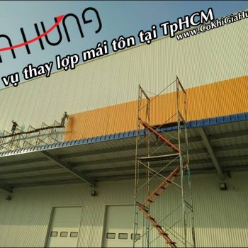 Dịch vụ thay lợp mái tôn - mái ngói trọn gói tại TpHCM