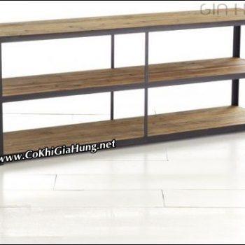 Kệ khung sắt mặt gỗ CK564