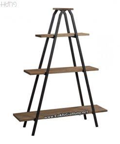 Xưởng làm mẫu kệ trang trí khung sắt mặt gỗ CK462 giá rẻ tại TpHCM