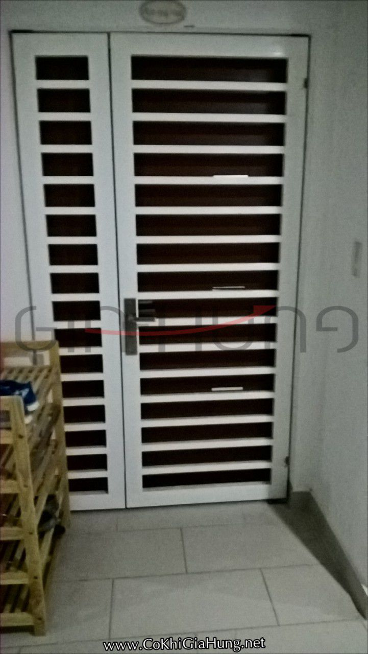 Công ty cơ khí Gia Hưng chuyên làm mẫu Cửa sắt chung cư CK641 tại 4S Riverside Linh Đông
