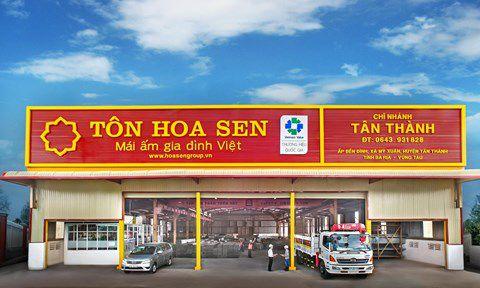 Chi nhánh Tân Thành cua Tập đoàn Hoa Sen