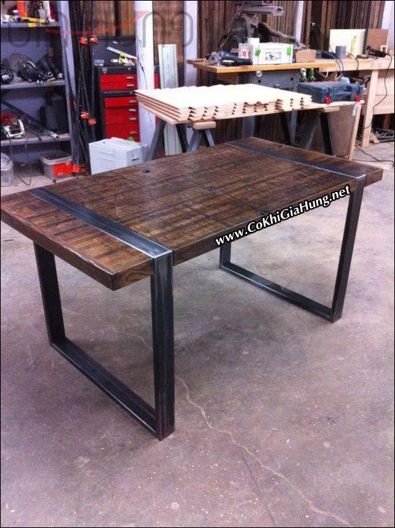 Xưởng là mẫu Bàn ăn khung sắt mặt gỗ CKB737 chất lượng và giá tốt tại quận 12 là đâu?
