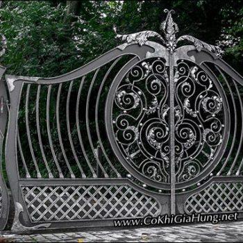 Cửa cổng sắt nghệ thuật CK697