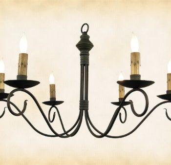 Đèn chùm trang trí hoa sắt CK957