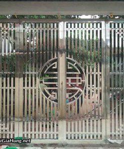Giá mẫu cửa cổng sắt inox 2 cánh CK1007 tại quận 12 bao nhiêu tiền 1 mét vuông?