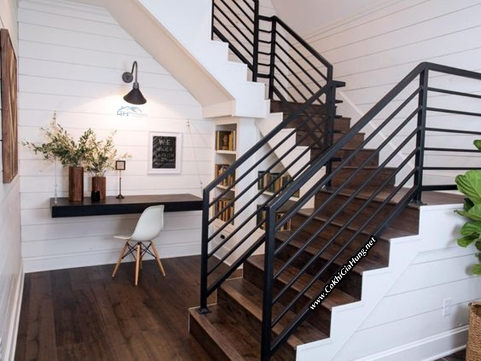 28 Best Stairway Decorating Ideas And Designs For 2019: Tay Vịn Cầu Thang Song Sắt CK1032