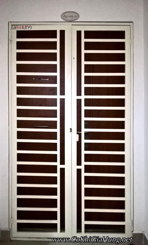 Mẫu cửa sắt chung cư 4S Riverside Linh Đông Thủ Đức CK1116