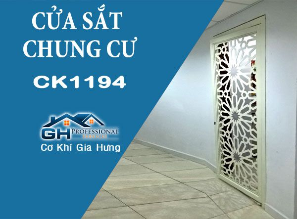 Mẫu cửa sắt chung cư CNC CK1194 đẹp tuyệt vời tại HQC Plaza - Bình Chánh