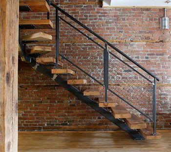Mẫu cầu thang sắt bậc gỗ CK1234 đẹp quá, đẹp đẹp quá!