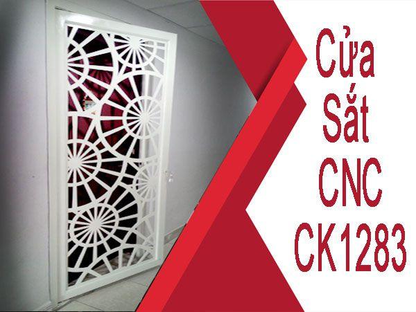 Mẫu Cửa Sắt Chung Cư CNC CK1283 đẹp ngây ngất