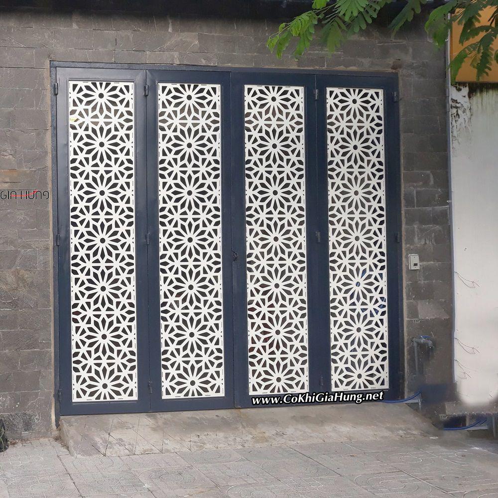 Mẫu cửa cổng sắt tấm cắt hoa văn bằng máy CNC CK-1448